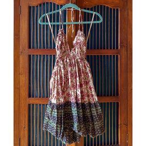 Free People 100 Degree Printed Mini Dress
